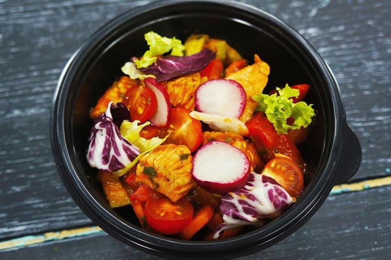 Индейка томленая с овощами