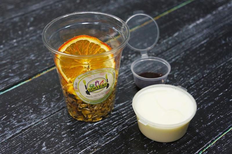 Ореховые мюсли с йогуртом