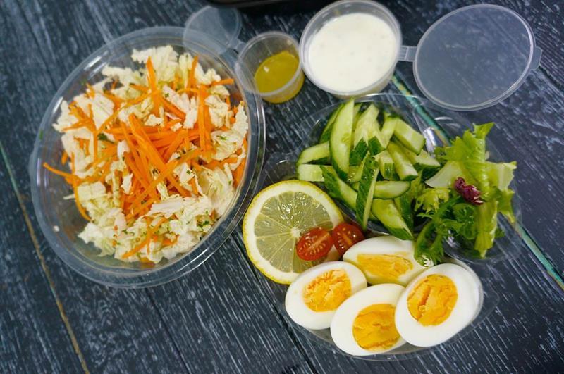 Овощной салат слоу клоу с фирменной йогуртной заправкой