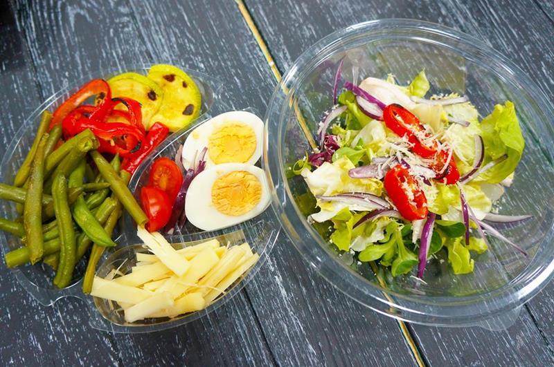 Теплый салат с сулугуни
