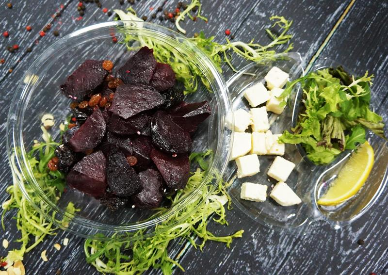 Салат из пряной свеклы с фетой