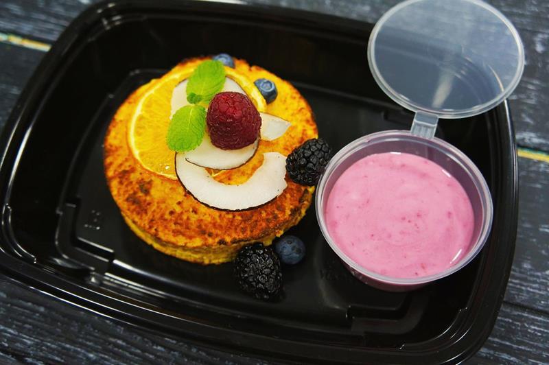 Тыквенный пирог с ягодным соусом